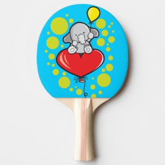 Ping Pong Paddle, Red Rubber Back with elephant Ping Pong Paddle