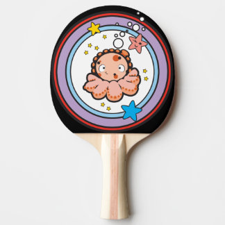 Ping Pong Paddle, White Rubber Back
