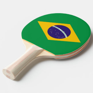 Ping pong paddle with Flag of Brazil