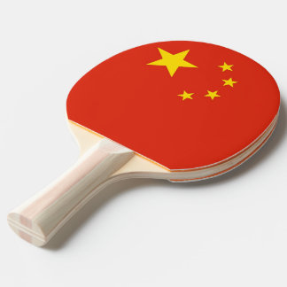 Ping pong paddle with Flag of China