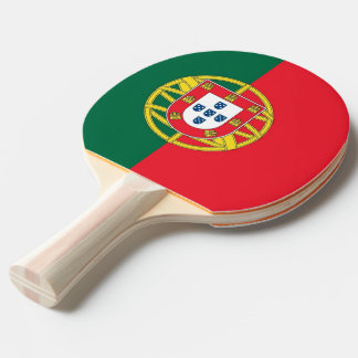 Ping pong paddle with Flag of Portugal