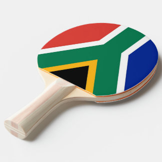 Ping pong paddle with Flag of South Africa
