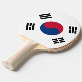Ping pong paddle with Flag of South Korea