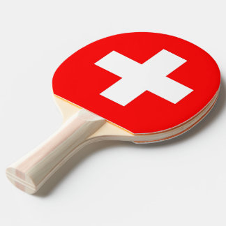 Ping pong paddle with Flag of Switzerland