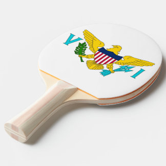 Ping pong paddle with Flag of Virgin Island, USA