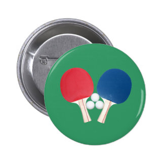 Ping Pong Paddles and Balls 6 Cm Round Badge