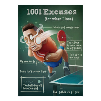 Ping Pong Posters: 1001 Escuses Poster