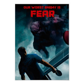 Ping Pong Posters: Fear (A3) Poster