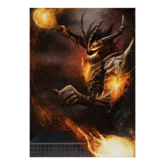 Ping Pong Posters: Fire Knight Poster