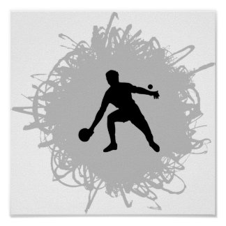 Ping Pong Scribble Style Poster