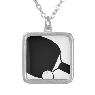 Ping Pong Silver Plated Necklace