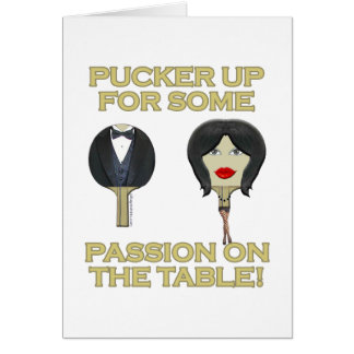 Ping Pong Table Passion Card