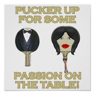 Ping Pong Table Passion Posters