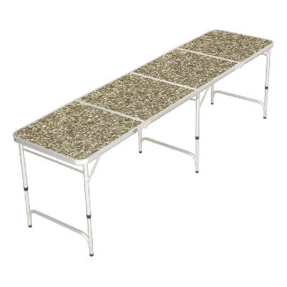 Ping Pong Table Silver Gold Glitter Look Elegant