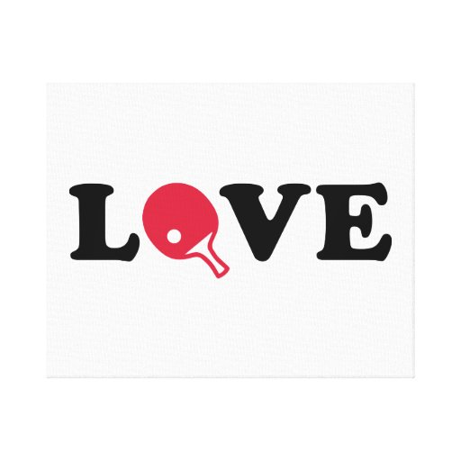 Ping Pong table tennis love Gallery Wrapped Canvas