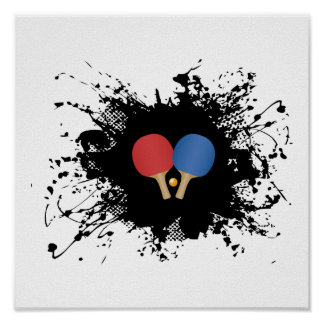 Ping Pong Urban Style Poster