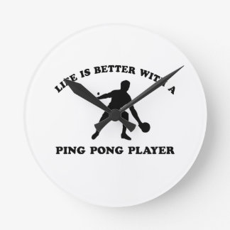 Ping Pong Vector Design Round Clock