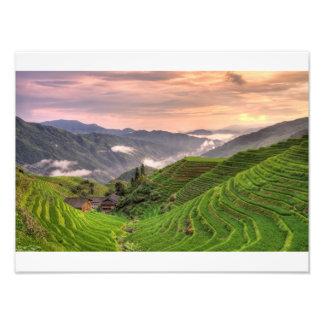 Pingan sunset photo print