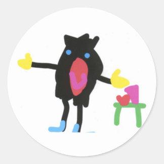 Pingu - Flip Boom crop Round Sticker
