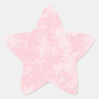 Pink3 Soft Grunge Design Star Sticker
