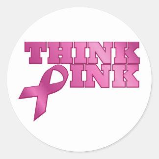 pink_03 round sticker