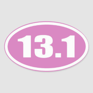 Pink 13.1 Sticker | Pink Half Marathon Sticker
