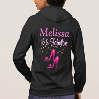 PINK 16TH & FABULOUS PERSONALIZED HOODIE