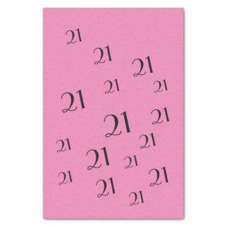 PINK 21st Birthday number pattern Tissue Paper