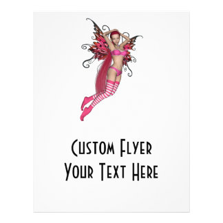 Pink 3D Pixie - Fairy Graphic 2 Custom Flyer