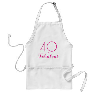 Pink 40 and Fabulous Typography Standard Apron