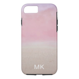Pink Abstract Beach Water iPhone Case
