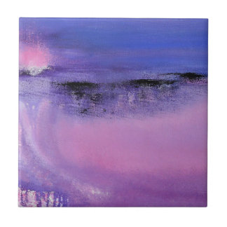 Pink Abstract Ceramic Tile