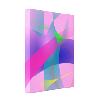 Pink Abstract Clear-Cut Outlines Canvas Print
