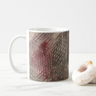 Pink abstract coffee mug