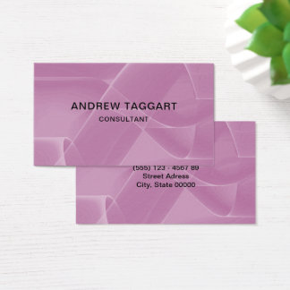 pink abstract figures business card
