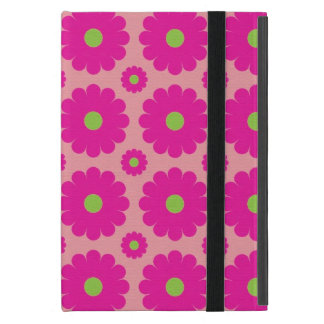 Pink abstract floral design ipad mini case