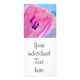 pink abstract flower personalized rack card