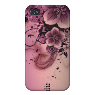 Pink Abstract Flowers iPhone 4 Cover