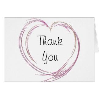 Pink Abstract Heart Bridesmaid Thank You Card