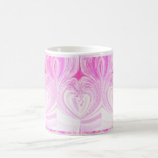 Pink Abstract Heart Painting Coffee Cup Basic White Mug