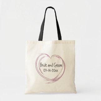 Pink Abstract Heart Wedding Bag