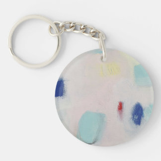 Pink abstract keychain