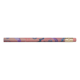 Pink Abstract Pencil