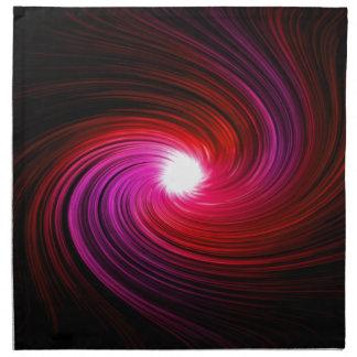 Pink abstract swirl. napkin