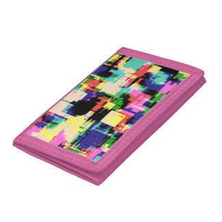 Pink Abstract Wallet