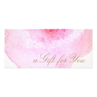 Pink Abstract Watercolor Pink Gift Certificate