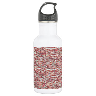 Pink abstract waves pattern. Sea texture. 532 Ml Water Bottle