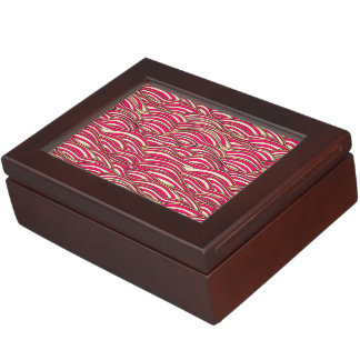 Pink abstract waves pattern. Sea texture. Keepsake Box