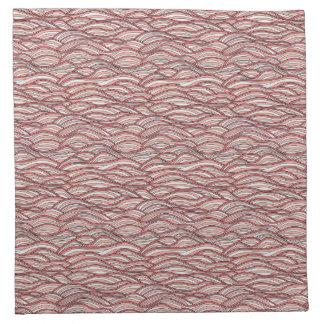 Pink abstract waves pattern. Sea texture. Napkin