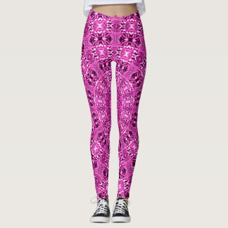 Pink Acid Rave Love Leggings